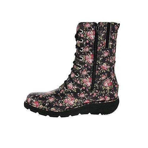 Heavenly Feet Walker2 Stivali Nero Floreale Floreale Nero