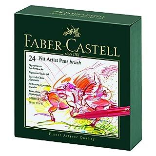 Faber-Castell Pitt Artist Pen Gift Box of 24 Colours