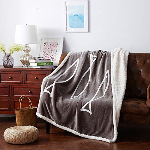 BDUK Die Decke Stempel mit Lamm Wolldecken Composite Büro Auto Mittagsschlaf Decken, doppelklicken Sie auf 130*160cm)