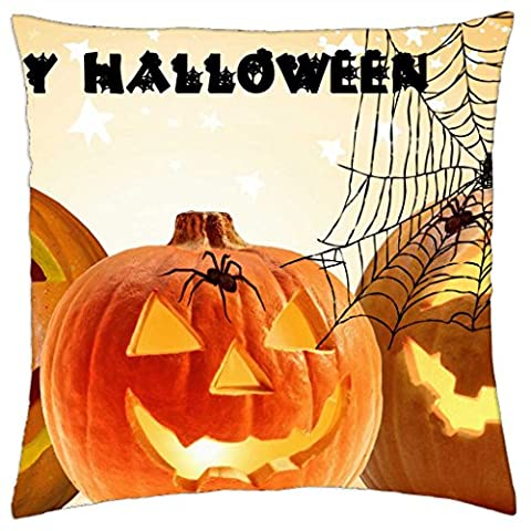 Jack-O-Lanterns and Spiders - Throw Pillow Cover Case (18