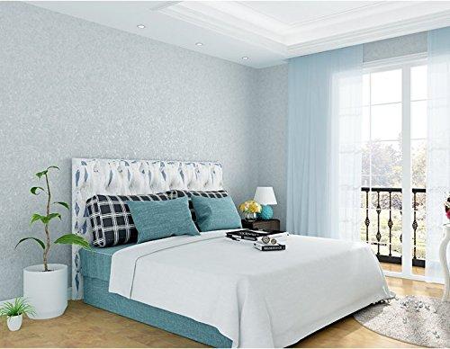 Vlies Tapete Wandtapetepoowef Fresh Mediterranean Style Vertical Striped Wallpaper Classic Blue Stereoscopic Bedroom Living Room Children'S Room Nonwoven Wallpaper, 0.53 * 10M - Blue Classic Wallpaper