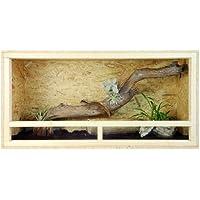 Grande in legno per interni Reptile Vivarium terrario 100x 50x 50cm con ventilazione laterale facile installazione 99,1x 50,8x 50,8cm