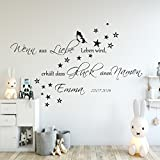 Wandschnörkel® Aufkleber HM~AA136Wenn aus Liebe Leben wird...Wand Spruch Wandtattoo Kinderzimmer Baby Mädchen Jungen Namen Türaufkleber, personalisiert (jetzt auch andere Farben zur Auswahl)