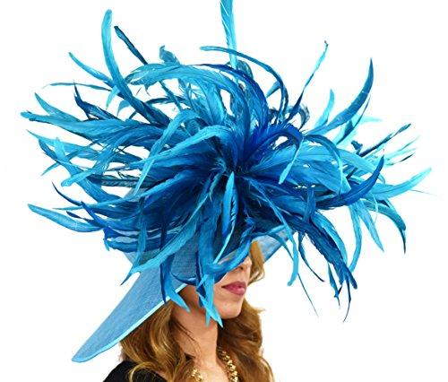 Tourterelle turque Direct Superbe chapeau à plume Vert - Jade