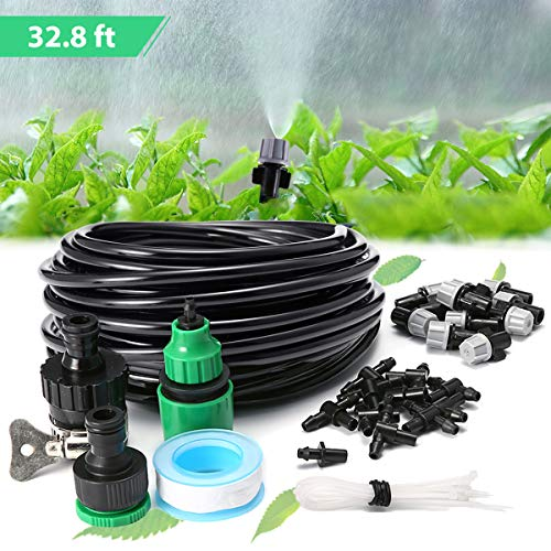 KING DO WAY 10M Kit per Irrigazione a Goccia, Set di Irrigazione Spray...