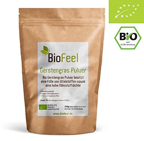BioFeel - Bio Gerstengras Pulver, 200g - rein - NEUSEELAND
