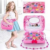 Mekeup Box Toy, Safe No tóxico Girl Beauty Makeup Box Simulation Cosmetics Toy Gift para Kid Child