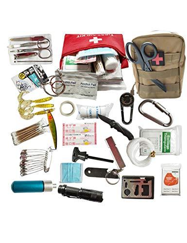 CUKKE Medizinische Tasche Auto Tragbare Familie Notfall Kit Notfall Überleben Erste-Hilfe-Kit