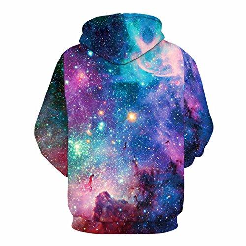 sankill Hoodie Herren Kapuzenpullover Galaxy Bunte HD 3D Bedruckte Pullover Unisex Harajuku Langarm Sweatshirt Kapuzenjacke Starry