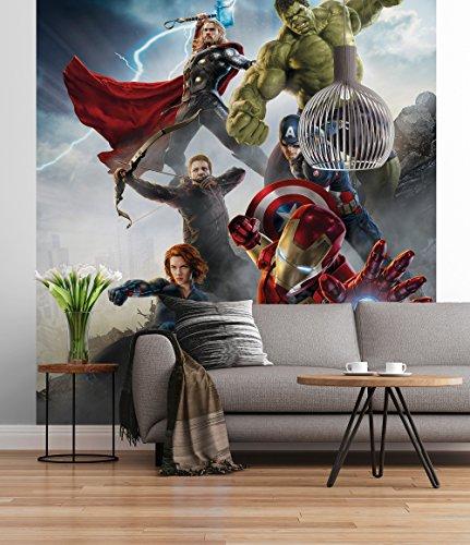totapete Marvel Avengers Age of Ultron, Bunt, 184 x 254 cm, Wandbild, Wandbelag, Wanddeko, Wandgestalltung, Kinderzimmer ()