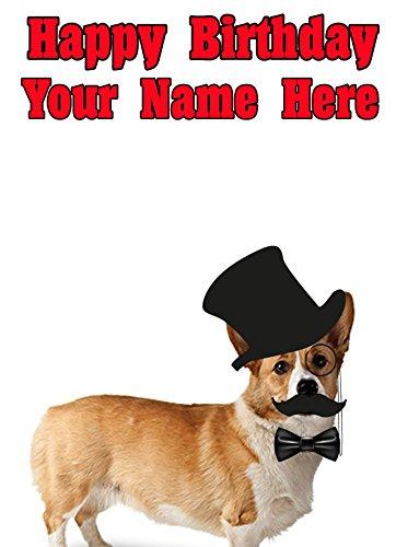 Pembroke Welsh Corgi Hund pps100Squire Posh Paws lustig Niedlich zum Geburtstag-Personalisierter Grußkarte von uns 2016mit aus Derbyshire UK