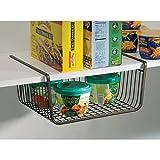 #6: Woogor 1 PC Under Shelf Basket Wire Rack Easily Slides Under Shelves for Extra Cabinet Storage Random Color