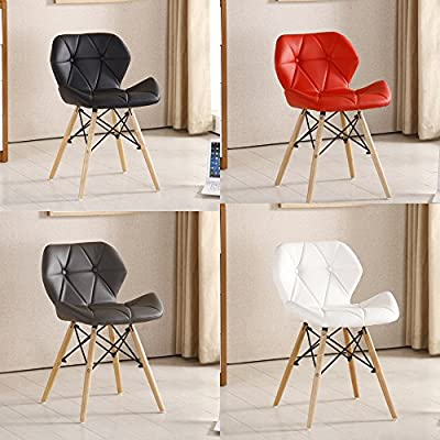 P&N Homewares® Cecilia Eiffel Millmead Inspired Chair Plastic Retro White Black Grey Red Dining Chair Office Chair Lounge produced by P&N Homewares - quick delivery from UK.