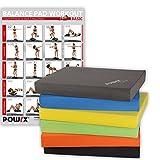 POWRX Balance Pad/Sitzkissen / Kissen Yoga Pilates (Dunkelgrau)