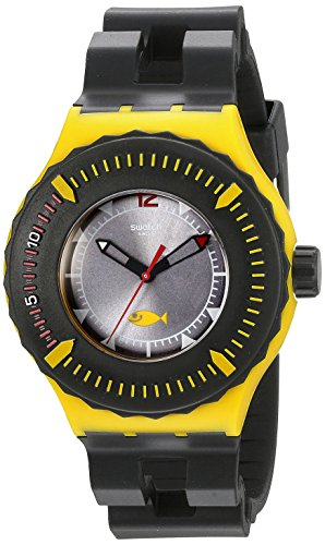 Swatch Scuba Libre Bumble Dive - Reloj de cuarzo para hombre, con correa de plástico, color negro