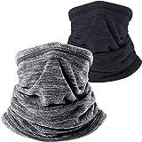 Wtactful Scaldacollo in morbido pile, sciarpa per tenere al caldo durante il freddo inverno mentre si pratica sport all'aperto, confezione da 2