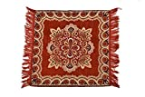 #7: Deepika Home Decor Velvet Touch Prayer Mat, pooja assan - 23X23 Inch