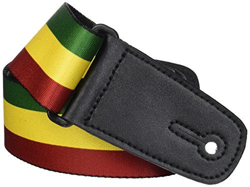 BD Nylon Gitarrengurt – Rasta Reggae Lion Head Design