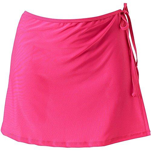 Minetom estate donna pastoia swim gonna bikini coprire fino vestito costumi da bagno pareo corta sarong spiaggia rosa it 48