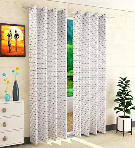 check MRP of cotton door curtains set of 2 Purav Light