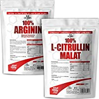 Preisvergleich für C.P. Sports 100% Arginin mit B6 + L-Citrullin Malat je 1000g Beutel Kombiangebot hochdosiert, Premiumqualität,...