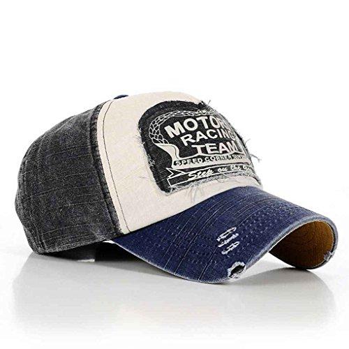 Bobury Cappello registrabile del cotone di baseball del cappello  dell annata di modo - Donna - Panorama Auto af1c63ba9467