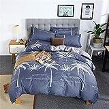 yyygg Bettwäscheset Pastoral Bettlaken seitlicher Bettbezug 200x200cm