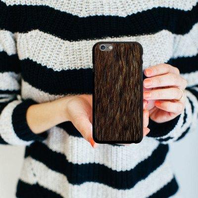 Apple iPhone 6 Housse Étui Silicone Coque Protection Fourrure Animal Ours CasDur noir