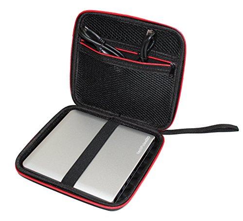 techPulse120 Schutzhülle Hülle Hartschalentasche Tasche Schale Case Bag für Externe DVD & Blu-ray Laufwerke und Festplatten HDD