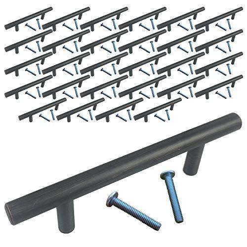 cm Öl eingerieben Bronze Bar Pull Schrank Küche Griff Hardware Schublade Griffe zieht Stahl Tür T Möbel NEU MASSIV poliert Bürste Bin Ersatz ()