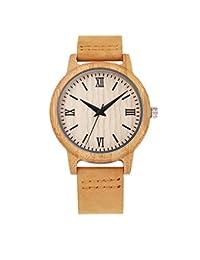 Madera de madera de alta calidad de reloj reloj de sándalo retro de tabla de madera casual con estilo