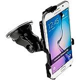 yayago KFZ Halterung 360 Grad drehbar für Samsung Galaxy S6 - Halter AutoHalterung + yayago Kfz Ladekabel mit Aufrollfunktion für Samsung Galaxy S6