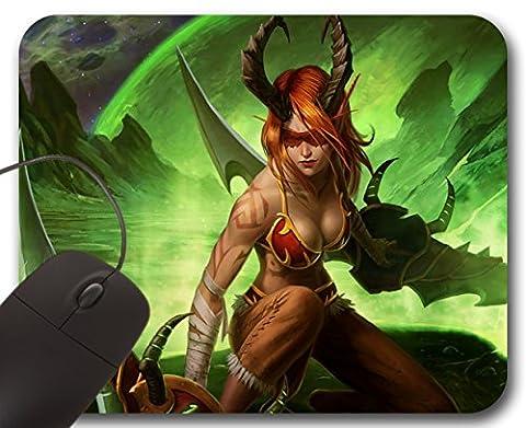 Demon Hunter Girl Mousepad WOW - World of Warcraft Tapis de Souris (A)