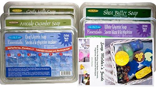 Life Of The Party 10lb Sampler Pack von Ziegenmilch, klar, weiß, avocado Gurke, Shea Butter Schmelzen und gießen Gemüse Glycerin Seife Grundlagen -