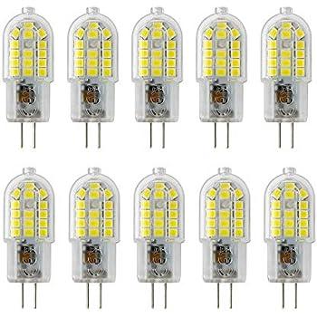 G4 Bombilla LED, 3W, 300LM, Equivalente a 30W Bombillas Halógenas, Blanco Frío 6000 K, AC 220-240V, No Regulable, Pack de 10