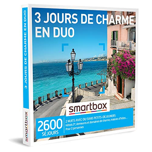 SMARTBOX - Coffret Cadeau homme femme couple - 3 jours de charme en duo - idée...