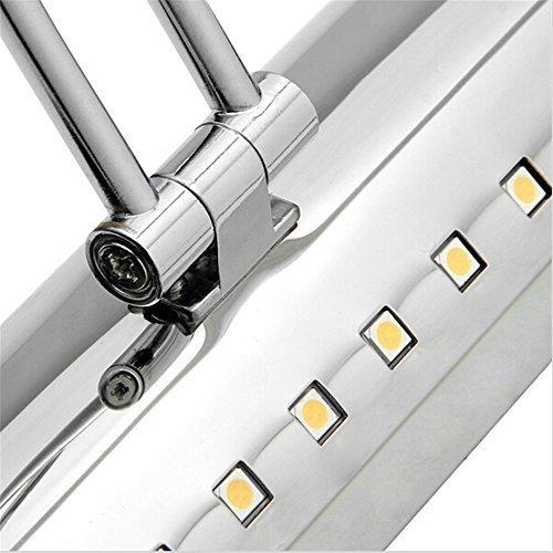 Lightess-Lampada-da-Specchio-8W-36LED-Illuminazione-Moderna-da-Trucco-Angolo-Regolabile-SMD-5050-Lampada-per-Bagno-Impermeabile-con-Interruttore-di-Acciaio-Inossidabile-Bianco-Caldo