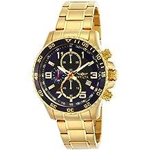 Invicta Specialty - 14878 Orologio da Polso, Cronografo, Uomo, Cinturino Acciaio Inossidabile, Oro - 18k Quadrante Blu