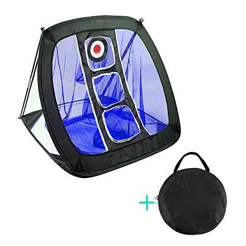 ZZM Golf Chipping-Netz Pop-Up, Unisex Golf-Übungsnetz, tragbar, zusammenklappbar, für den Innen- und Außenbereich, für Genauigkeit und Schaukelübungen blau - Swing-erweiterung