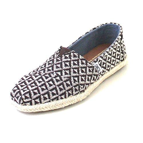 Toms Damen Espadrille Alpargata Braun Textil 39 (Schuhe Braun Slipper Damen)