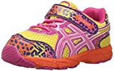 ASICS Turbo TS Girls Running Shoe (Toddler), Sun/Flamingo/Berry, 4 M US Toddler