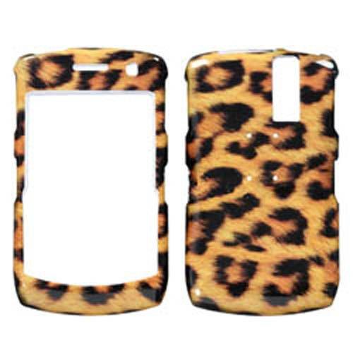 Hartschale für BlackBerry 8350 / 8350i Curve (Kunststoff, zum Aufstecken, Leopardenmuster) Rim-hard-faceplates