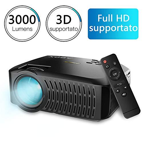 Videoproiettore, ABOX A2 Proiettore da 3000 Lumen,...