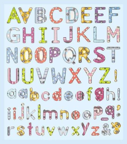 Hobby Design Sticker * Buchstaben ABC * Aufkleber (Scrapbooking-aufkleber Buchstaben)