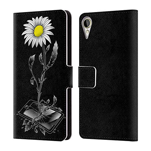 Offizielle Tobe Fonseca Natur Gemischte Designs Leder Brieftaschen Huelle kompatibel mit HTC Desire 10 Lifestyle