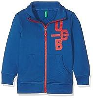 United Colors of Benetton Boy's Zipped Jacket, Blue, 7-8 Years (Manufacturer Size:Medium)