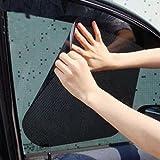 2PCS Auto Seite Fenster Statische Filme Aufkleber Sonne Schatten Aufkleber UV-Schutz Shield Displayschutz Visier UV-Strahlen Auto Windschutzscheibe Sonnenschutz für Pet Baby Schutz