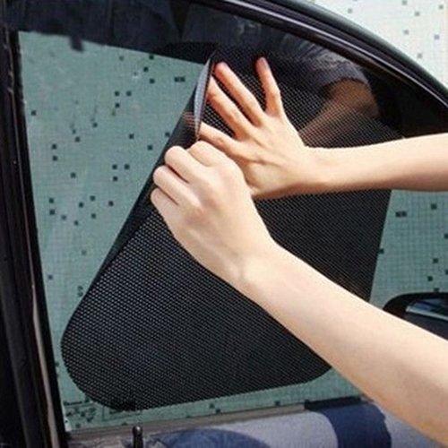 2PCS Auto Seite Fenster Statische Filme Aufkleber Sonne Schatten Aufkleber UV-Schutz Shield Displayschutz Visier UV-Strahlen Auto Windschutzscheibe Sonnenschutz für Pet Baby Schutz -