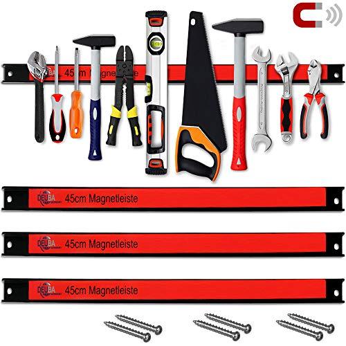 Set de 3 barres magnétiques pour outils 45cm 23kg charge - Garage outils atel