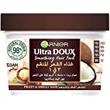 Garnier Ultra Doux Smoothing Coconut 3-in-1 Hair Food For Frizzy Hair, 390 ml